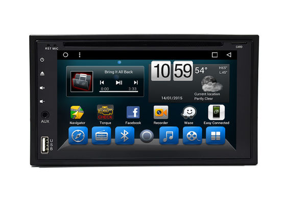 Evrensel 6.2 Çift Din Stereo Radyo Android Car Navigation Multimedia Player